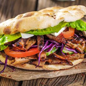 Kebabs in flatbread – Kebab House & More – Engelberg